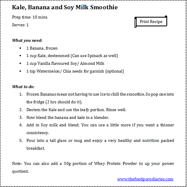 Kale Smoothie - Recipe