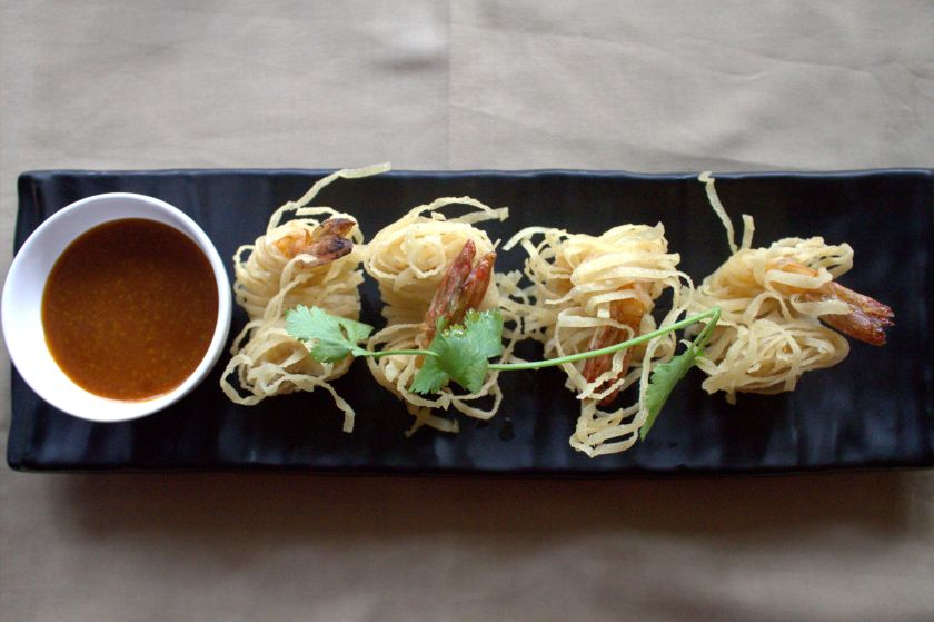 Crunchy Wonton Wrapped Prawns